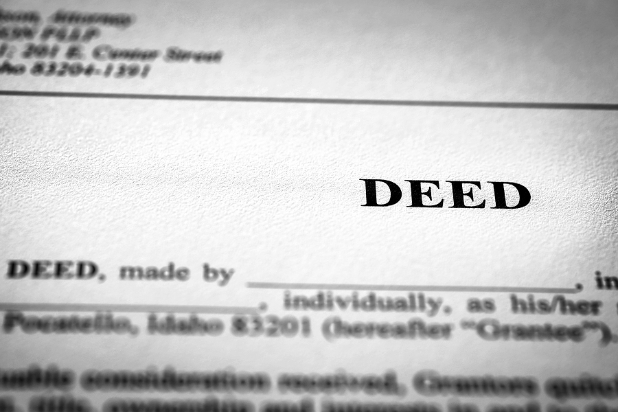 Does the property deed match the name on the insurance policy?